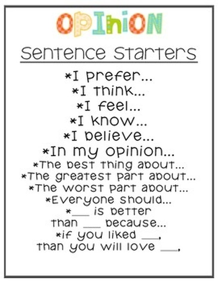 useful expressions for opinion essays